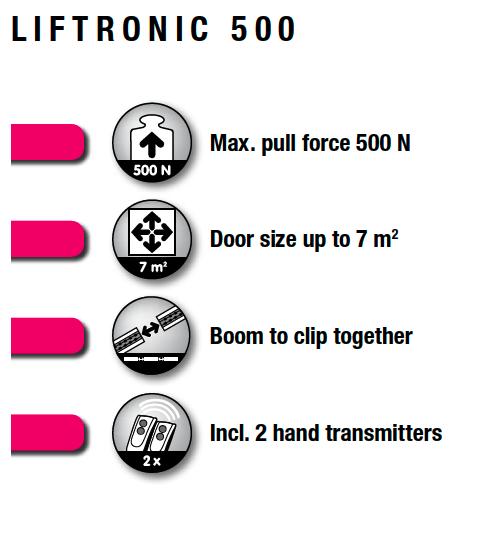 moter garazoportas liftronic 500